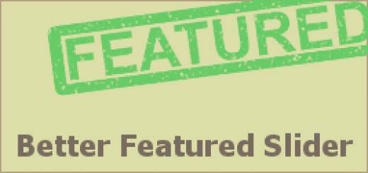 Better Featured Slider